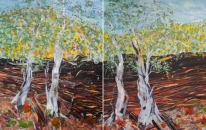 24. Ochre Wall Colours - Diptych