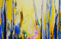Enchanted Forest by Lynne Bickhoff Mixed Media on Linen 150 x 120 cm