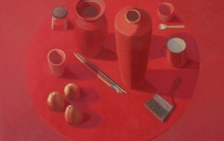 1. Red. Table. Objects