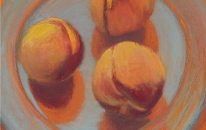 15. Orange. Plate. Peaches 2<br>SOLD