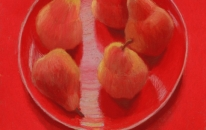9. Red. Plate. Pears<br>SOLD