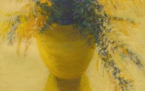 7. Yellow. Vase. <br>SOLD