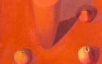 Red, Vase, Rosa Pears