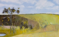 Lysterfield Hills No2  by Emma Niehof 92 x 92 cm Acrylic on Canvas
