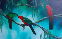 Emerald and Rubies (King Parrots)