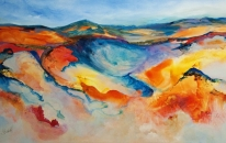 Flowing Earth 90 x 150 cm