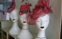 A sample of some beautiful headwear on sale.