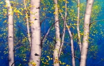 Birch on Blue <br>SOLD