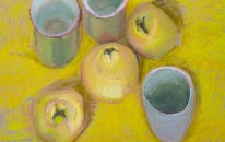 Yellow. Cups. Quinces