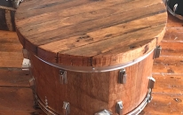 Kick Drum Coffee Table - on casters