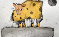 Dotty the Cow 601 and the Big Moon<br>SOLD