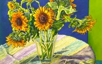 Sunflowers in Blue